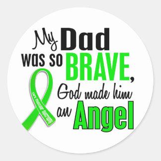 Papá de la distrofia muscular del ángel 1 pegatinas redondas