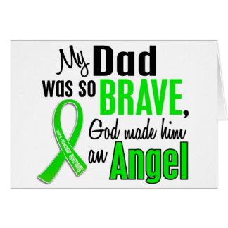 Papá de la distrofia muscular del ángel 1 tarjetón