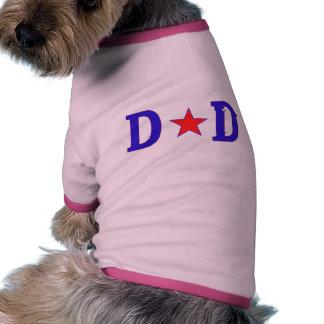 Papá de la estrella del papá camisetas de mascota