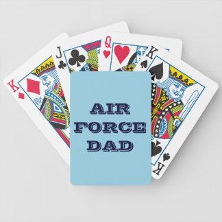 Papá de la fuerza aérea de los naipes barajas de cartas