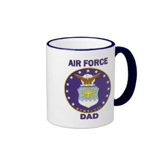 Papá de la fuerza aérea taza de dos colores