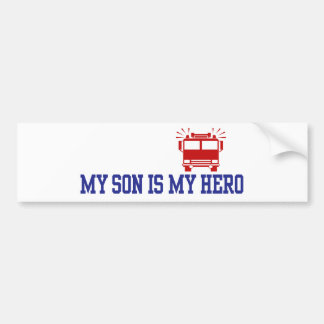 Papá de la mamá del bombero etiqueta de parachoque