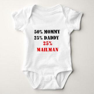 Papá de la mamá el 25% del 50%, cartero del 25% body para bebé