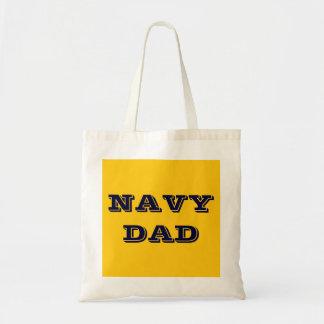 Papá de la marina de guerra del bolso bolsa tela barata