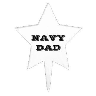 Papá de la marina de guerra del primero de la tort decoraciones para tartas