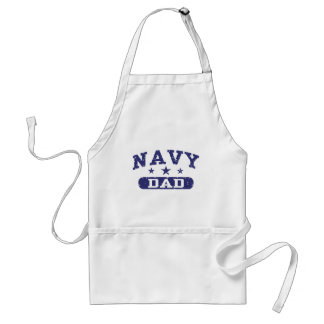 Papá de la marina de guerra delantal