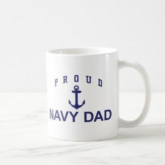 Papá de la marina de guerra taza de café