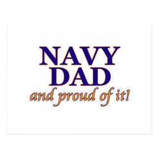 Papá de la marina de guerra y orgulloso de él postal