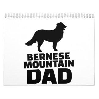 Papá de la montaña de Bernese Calendario De Pared