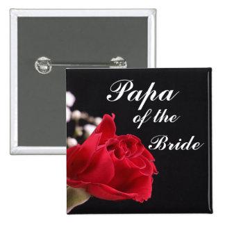 Papá de la novia pin cuadrado