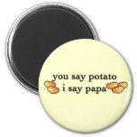 Papá de la patata imán de nevera