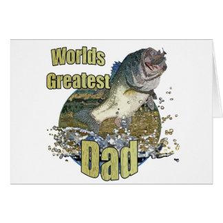 Papá de la pesca tarjetón