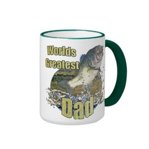 Papá de la pesca taza de dos colores
