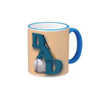 PAPÁ de la taza No.1 del béisbol con el palo y el