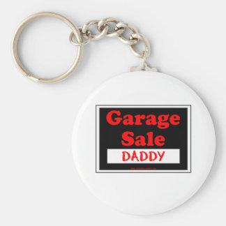 Papá de la venta de garaje llavero redondo tipo pin