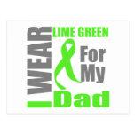 Papá de la verde lima del desgaste del linfoma I Tarjeta Postal
