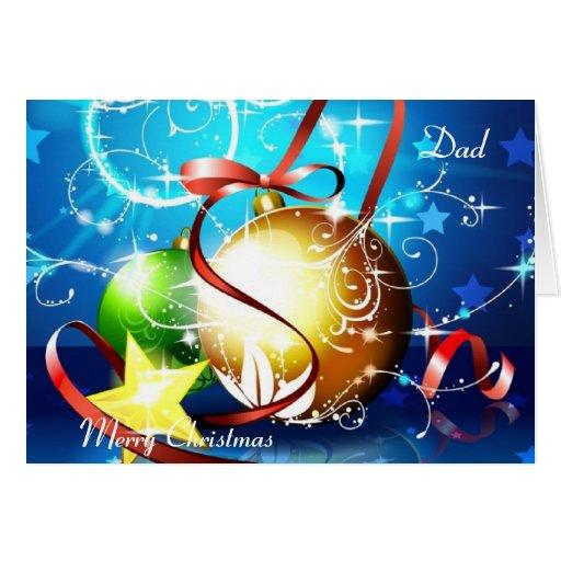 Papá de las Felices Navidad Tarjeta De Felicitación