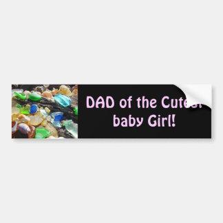 Papá de los papás más lindos de las pegatinas para etiqueta de parachoque