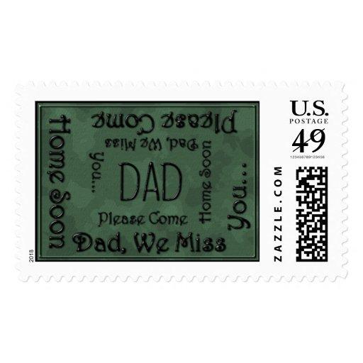 Papá de los Sellos-camo del franqueo Sello Postal