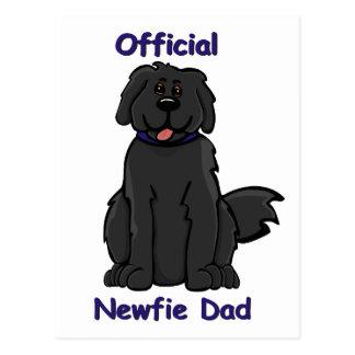 Papá de Newfie Tarjeta Postal