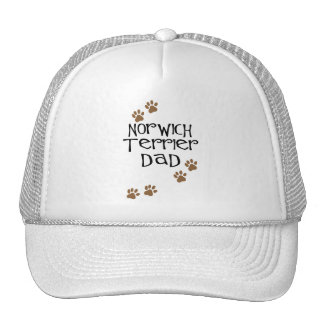 Papá de Norwich Terrier para los papás del perro d Gorro De Camionero