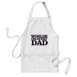 Papá de Okayest de los mundos Delantales