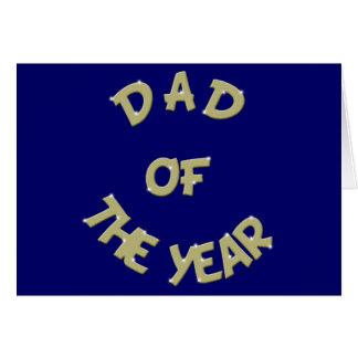 Papá de oro de la tienda de Tabel del año Tarjeta De Felicitación