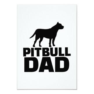 Papá de Pitbull Invitación 8,9 X 12,7 Cm
