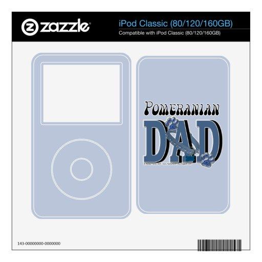 PAPÁ de Pomeranian Skins Para iPod Classic