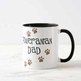 Papá de Pomeranian Taza