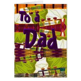 Papá de Rockin, tarjeta