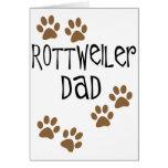 Papá de Rottweiler Felicitación