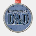 PAPÁ de Rottweiler Ornaments Para Arbol De Navidad