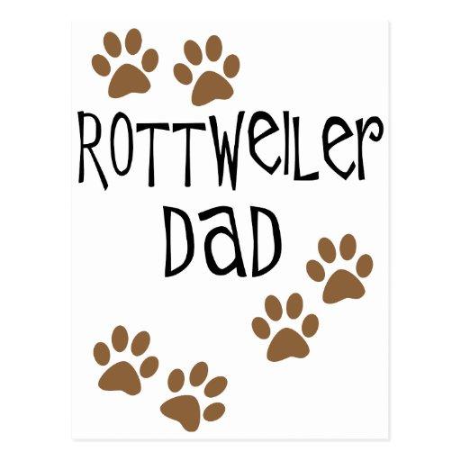 Papá de Rottweiler Postal