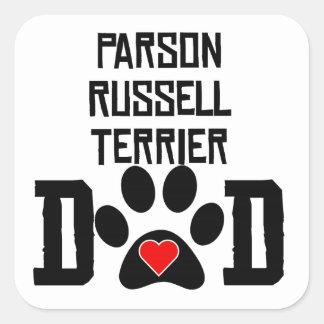 Papá de Russell Terrier del párroco Colcomanias Cuadradases
