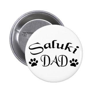 Papá de Saluki (texto de lujo) Pin Redondo 5 Cm