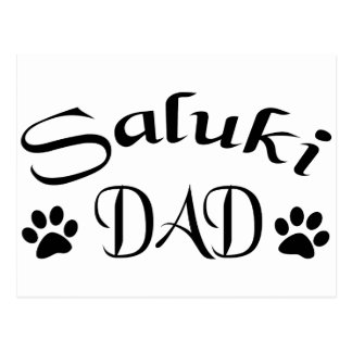 Papá de Saluki (texto de lujo) Postales