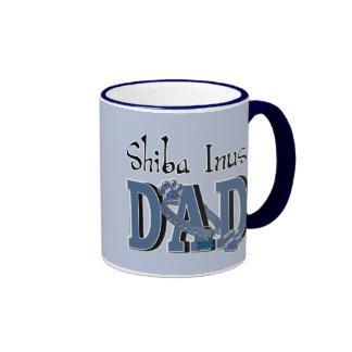 PAPÁ de Shiba Inus Tazas De Café