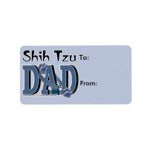 PAPÁ de Shih Tzu Etiqueta De Dirección