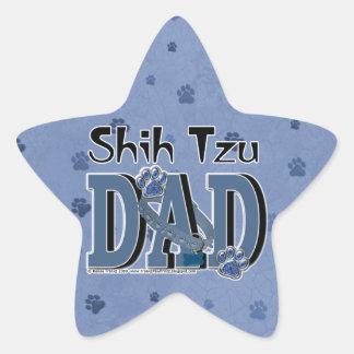 PAPÁ de Shih Tzu Pegatina En Forma De Estrella