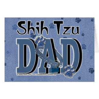 PAPÁ de Shih Tzu Tarjeta De Felicitación