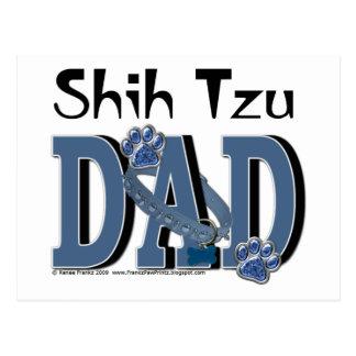 PAPÁ de Shih Tzu Tarjetas Postales
