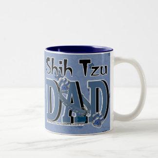 PAPÁ de Shih Tzu Taza De Café De Dos Colores