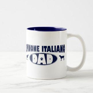 Papá de Spinone Italiano Taza De Dos Tonos