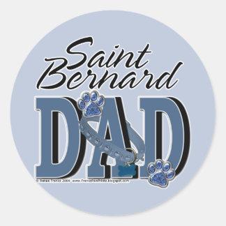 PAPÁ de St Bernard Pegatina Redonda