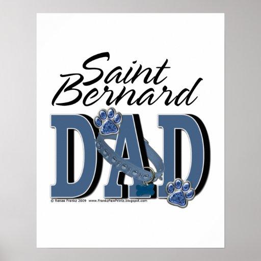 PAPÁ de St Bernard Póster