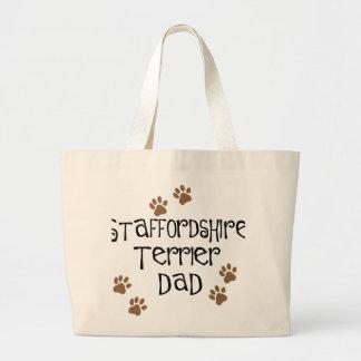 Papá de Staffordshire Terrier Bolsa Tela Grande