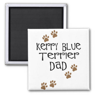 Papá de Terrier de azul de Kerry Imán Cuadrado