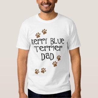 Papá de Terrier de azul de Kerry Playera