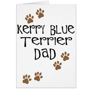 Papá de Terrier de azul de Kerry Tarjeta De Felicitación